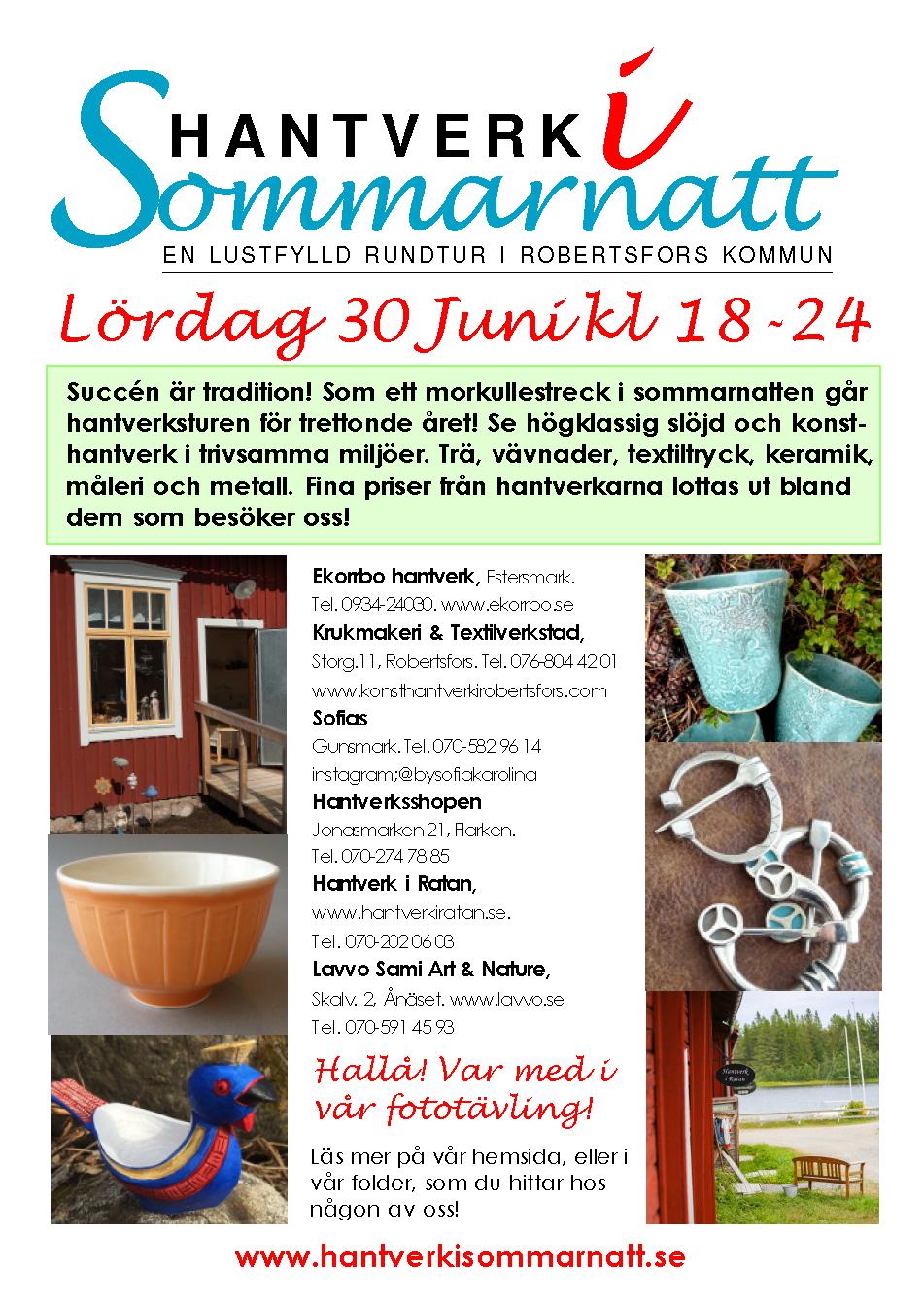 Affisch Hantverk i Sommarnatt 2018